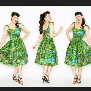 Bernie Dexter Jessica Happy Valley Print Dress S